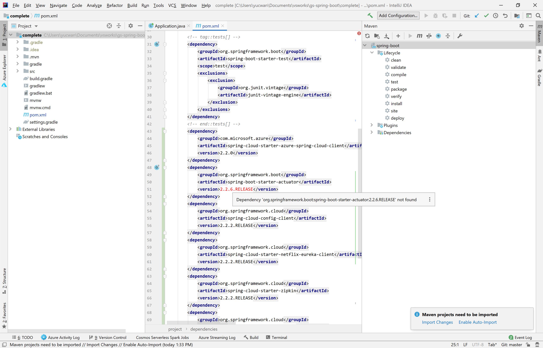 Resolving adding dependencies