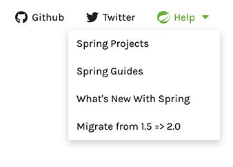 React-ing to start spring io + User feedback updates